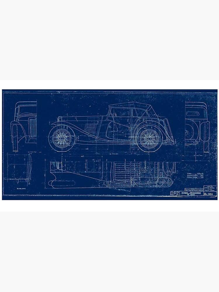 MG TC Blueprint Diagram by JustBritish