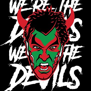 New Jersey Devils Black David Puddy T-shirt by EKGifts