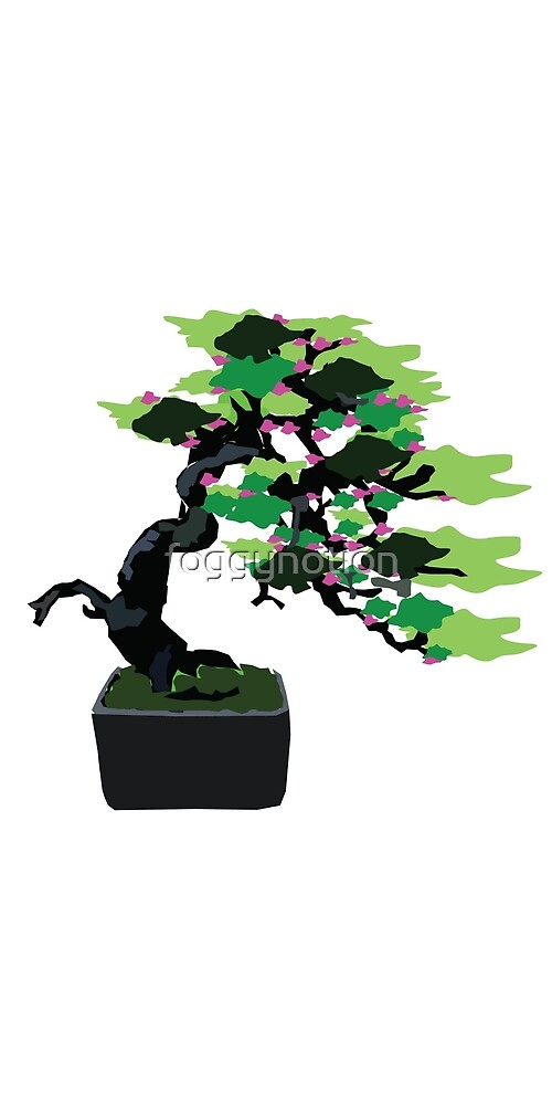 Bonsai Tree Graphic Design by foggynotion