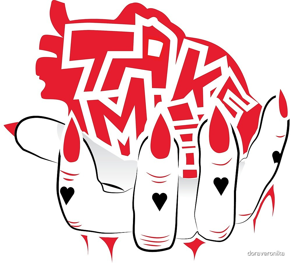 """Take Me"" Graffiti Heart Hand  by doraveronika"