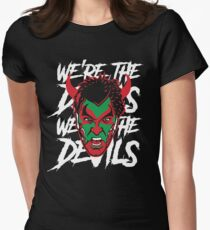 New Jersey Devils Black David Puddy T-shirt Women's Fitted T-Shirt