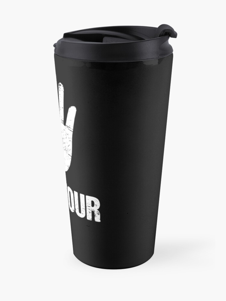 Alternate view of Funny Amputated Missing Finger Amputee Gift Travel Mug