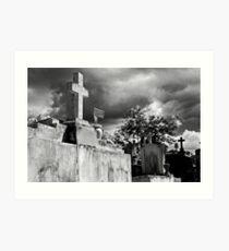 Cemetery - Moca, PR Art Print