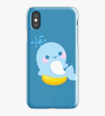 Kawaii whale sunbathing iPhone Case/Skin