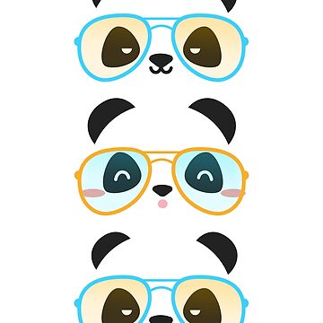 Retro Panda Cute Little Bears by MyShirtHub