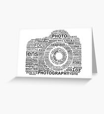 Camera of words photography Greeting Card