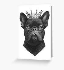 King French bulldog Greeting Card