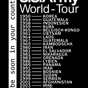 US Army World Tour (switch language to not-english one to see the art on the back of T-shirt) by themadhorse