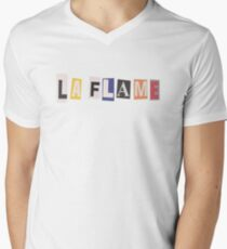 La Flame  Men's V-Neck T-Shirt