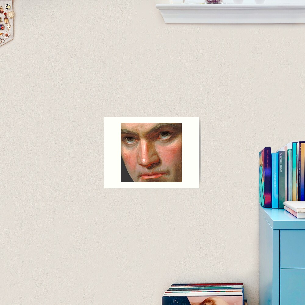 Beethoven in frightening close-up Art Print