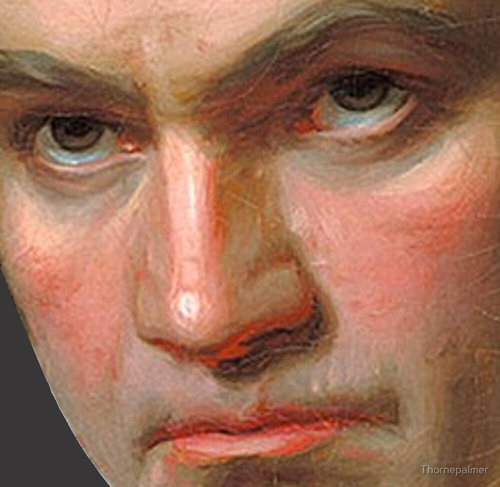 Beethoven in frightening close-up by Thornepalmer
