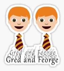Gred and Feorge Sticker