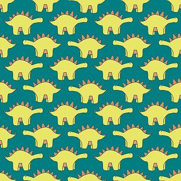 Tiny Stegosaurus by critterandposie