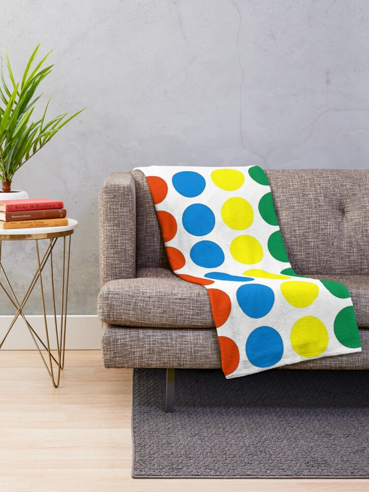 Alternate view of Twister Board Game Throw Blanket