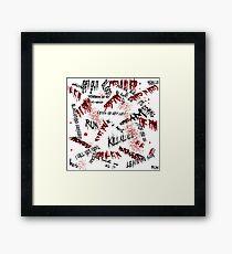 Halloween Scribblings Blood Splatter version Framed Print