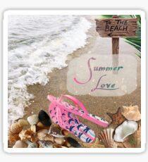Beach Summer Love  Sticker