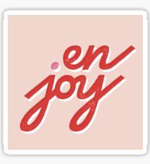 en • joy Sticker