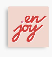en • joy Canvas Print