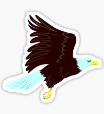 Bald Eagle Flying Side retro Sticker