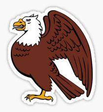 Stylized Bald Eagle Retro Sticker