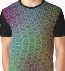 Abstract Iridescent Cellular Pattern with Flowers. Graphic T-Shirt