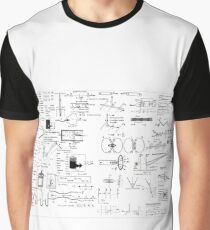 Physics: Formula Chart for General Physics course PHY 110, #Physics, #Formula, #Chart, #GeneralPhysics, #course, #PHY110 Graphic T-Shirt