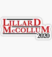 Pegatina Campaña Damian Lillard CJ McCollum