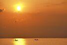 Asian Orange Sunset by Dean Bailey