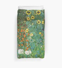 HD Country Garden With Sunflowers , by Gustav Klimt 1905-06 HIGH DEFINITION Duvet Cover