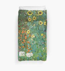 Funda nórdica HD Country Garden con girasoles, por Gustav Klimt 1905-06 ALTA DEFINICIÓN