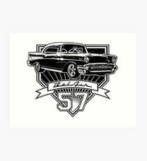 57 Chevy Belair Kunstdruck