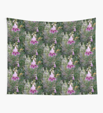 Pink Flowers Wall Tapestry