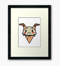 Mimikyu Ice Cream Cone Framed Print