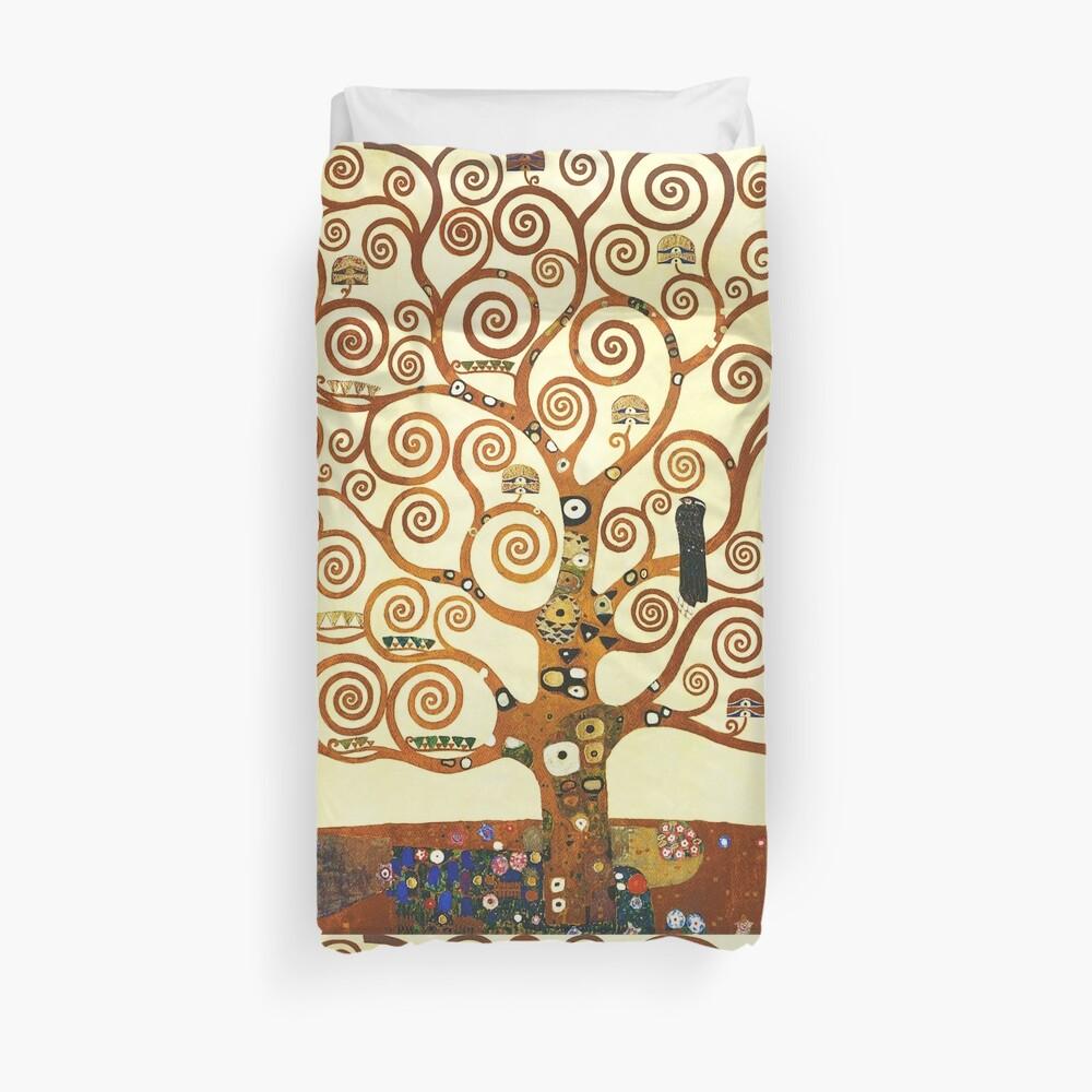 HD The Tree of Life, 1905 by Gustav Klimt - HIGH DEFINITION Duvet Cover