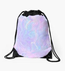 Pink Holographic Pastel Color Print Drawstring Bag