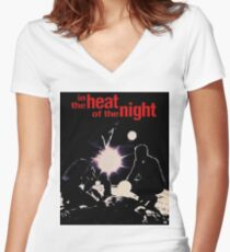 IN THE HEAT OF THE NIGHT Women's Fitted V-Neck T-Shirt