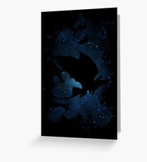 How to train your dragon - Toothless and Hiccup night Greeting Card