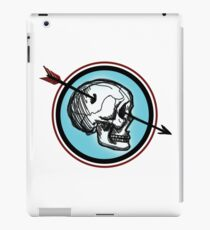 Red & Blue Skull Patch iPad Case/Skin