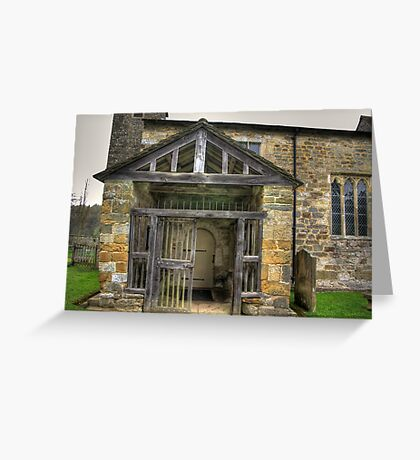 The Entrance St Gregory's Minster Greeting Card
