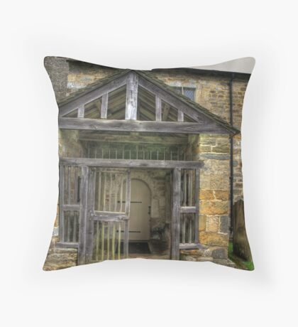 The Entrance St Gregory's Minster Throw Pillow