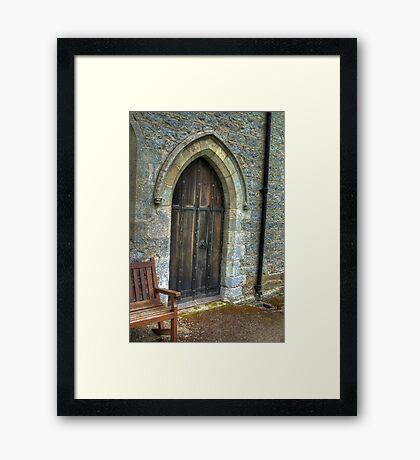 The Door - St Gregory's Minster Framed Print