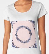 Dawn of Flowers, Blue Willow. Women's Premium T-Shirt