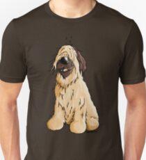 Happy Briard Cartoon  Unisex T-Shirt