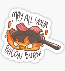 "Calcifer ""May all your bacon burn!"" Sticker Sticker"
