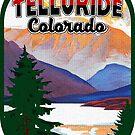 Telluride Colorado Skiing Vintage Travel Ski Snowboarding by MyHandmadeSigns