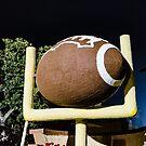 Football and Goalpost by Thaddeus Zajdowicz