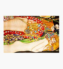 HD Water Snakes II, by Gustav Klimt 1907 HIGH DEFINITION Photographic Print