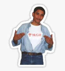 Obama McGill University Sticker