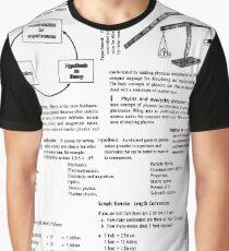 Diagram, Physics, General Physics, Mechanics, Kinematics, parallel, Optics, lipids, mustard, physical, condensed, physics, mass, physics, Modern Physics, nano Graphic T-Shirt