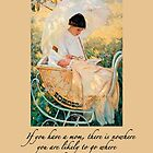 Mother, Mother's Day design for cards featuring Mary Cassatt painting by MaureenTillman
